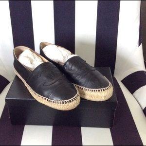 CHANEL Lambskin Leather Espadrilles